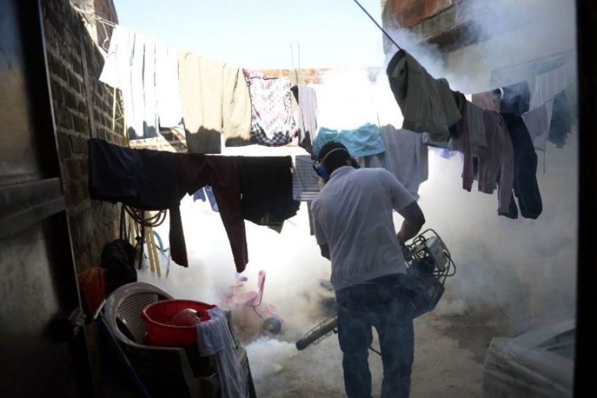 Para la reducción y eliminación de los criaderos se debe cepillar y lavar las paredes de los tanques de almacenamiento de agua para consumo humano con cloro. Foto:AFP
