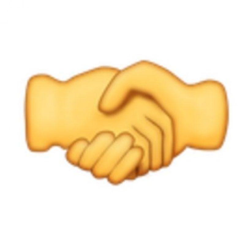 Saludo de manos. Foto:vía emojipedia.org