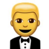 Hombre con traje. Foto:vía emojipedia.org