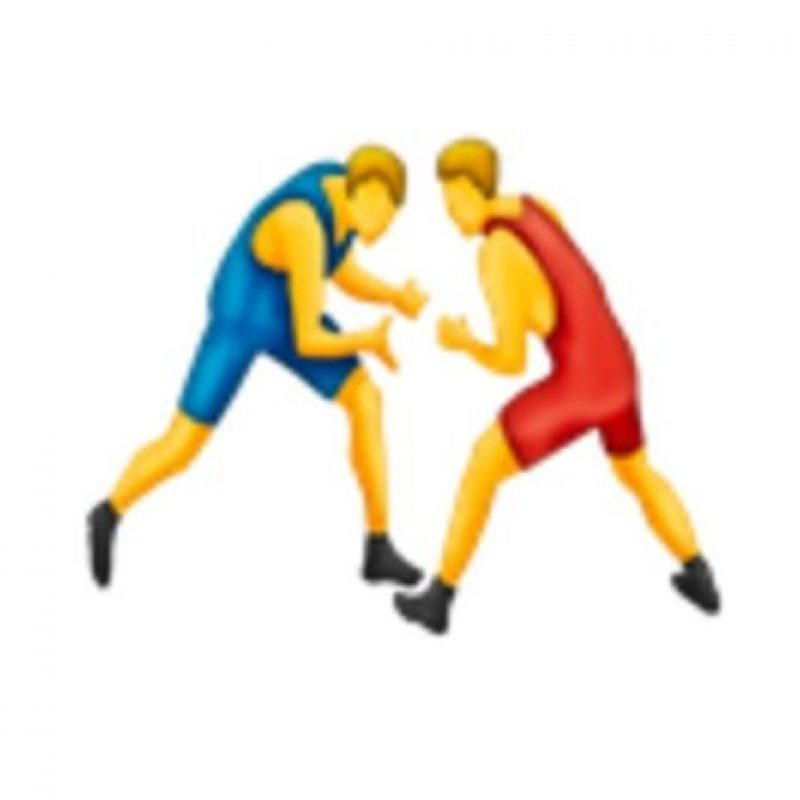 Luchadores. Foto:vía emojipedia.org