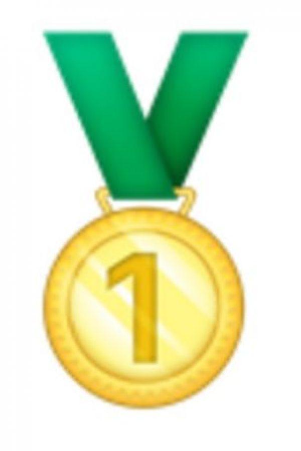 Medalla de oro, primer lugar. Foto:vía emojipedia.org