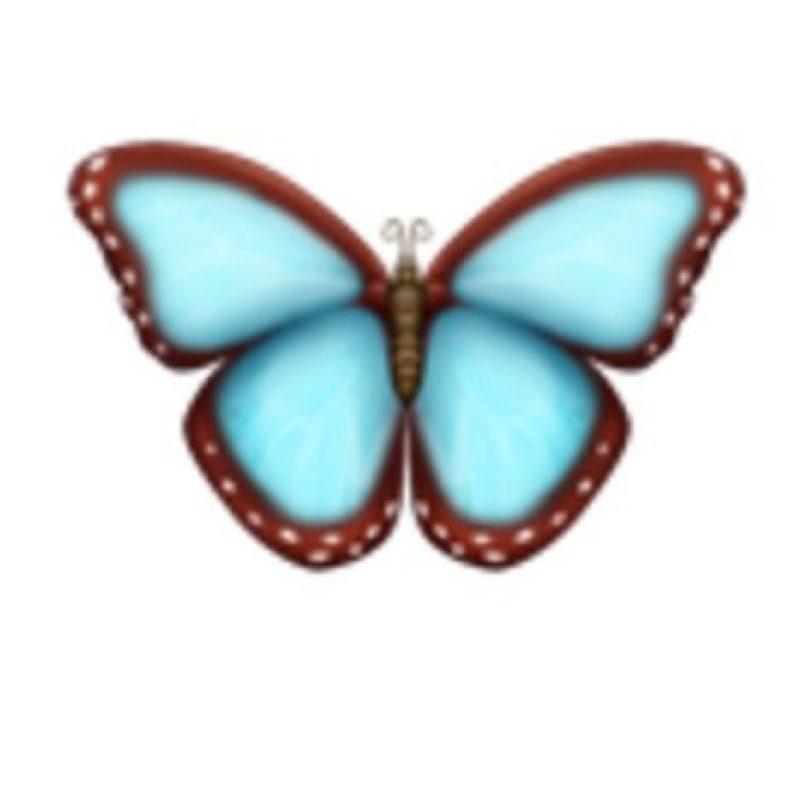 Mariposa. Foto:vía emojipedia.org
