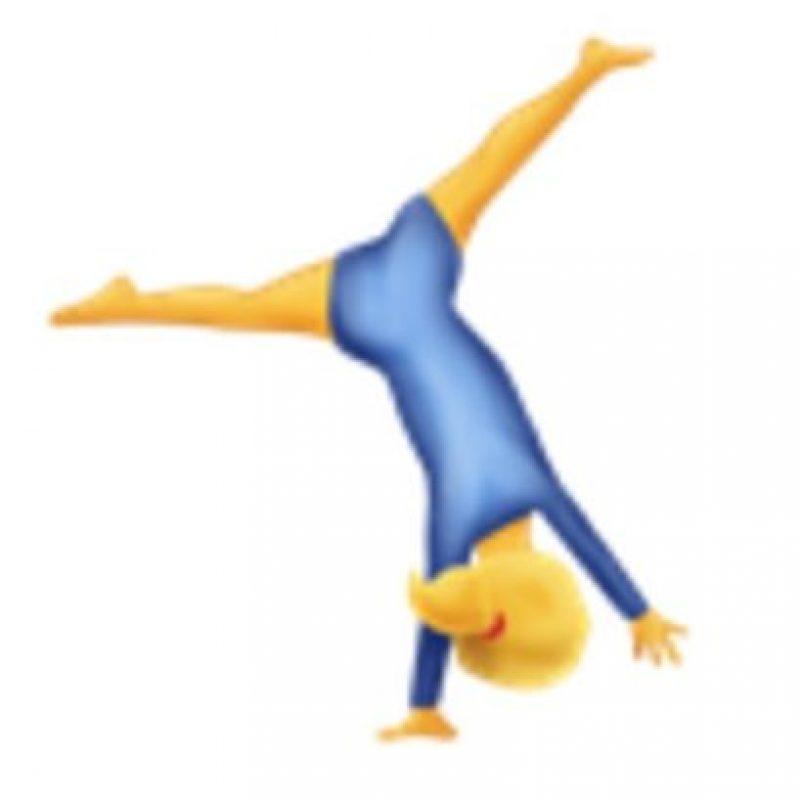 Gimnasta. Foto:vía emojipedia.org