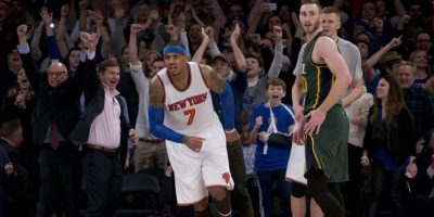 Carmelo Anthony juega para los New York Knicks. Foto:AP