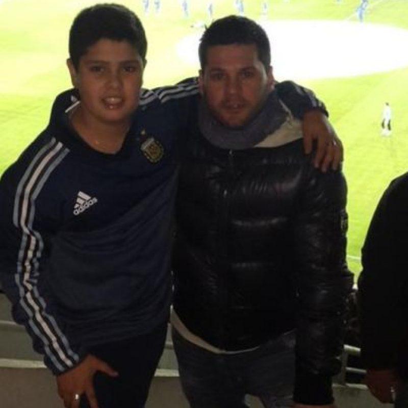 Matías suele acudir a los partidos del cinco veces ganador del Balón de Oro Foto:Vía twitter.com/_matiasmessi