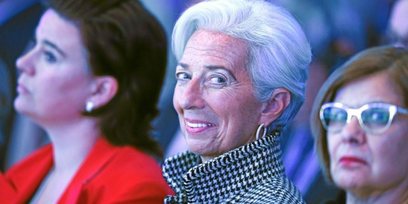 """Christine Lagarde, Directora Gerente del FMI, durante la sesión """"El futuro de Europa"""". Foto:Vía weforum.org"""