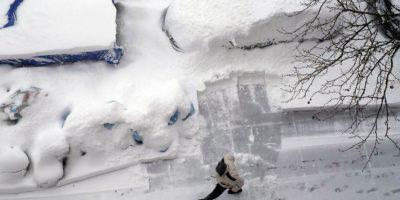 Congelantes imágenes de la potente tormenta al este de EE. UU.