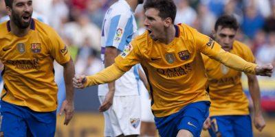 Lionel Messi marcó el segundo tanto del FC Barcelona. Foto:AFP