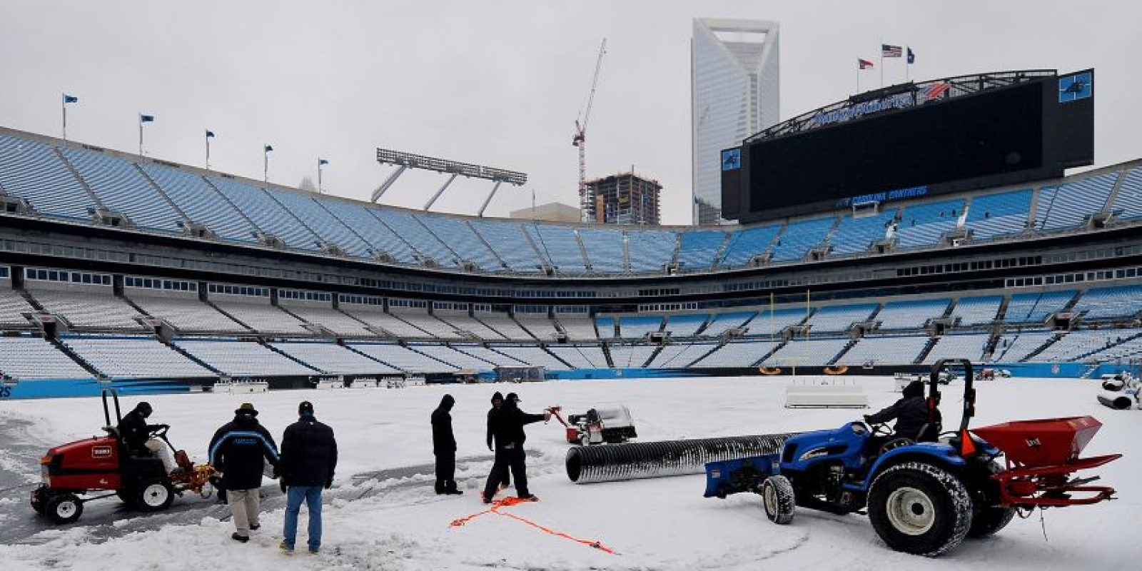 Una imagen del Bank of America Stadium. Foto:AP