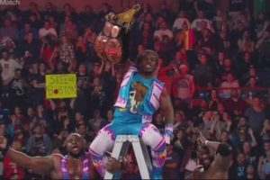 Al final, Kofi Kingston dio el título a The New Day. Foto: WWE