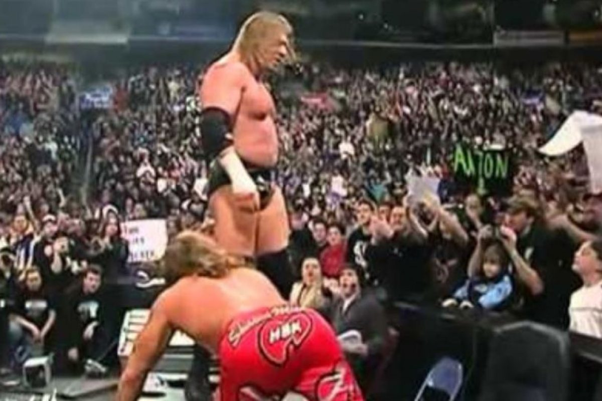 Shawn Michaels vs Triple H en Royal Rumble 2004. Foto: WWE