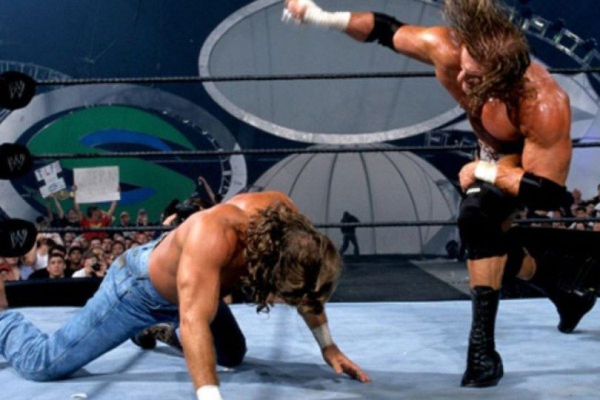 Shawn Michaels vs Triple H, en Summerslam 2002. Foto: WWE