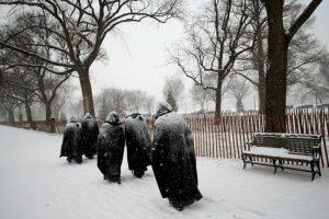 Se espera que haya acumulaciones de nieve de hasta 45 centímetros (1 pie con 5 pulgadas) Foto:Getty Images