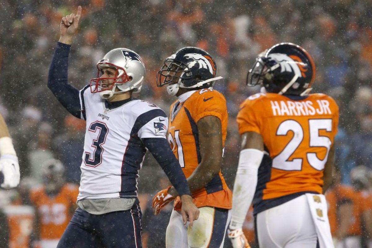 Acción de un partido entre Patriots y Broncos. Foto:AP