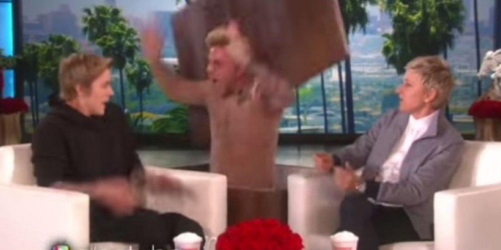 """3. Cuando Ellen DeGeneres lo asustó en su programa. Foto:""""Ellen DeGeneres Show"""""""