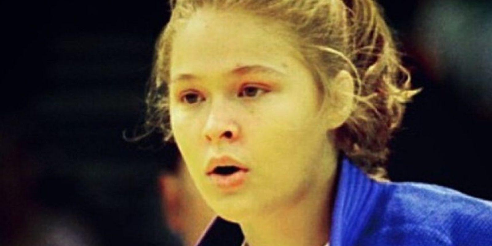 Así lucía a los 17 años en los Juegos Olímpicos de Atenas 2004. Foto:Getty Images