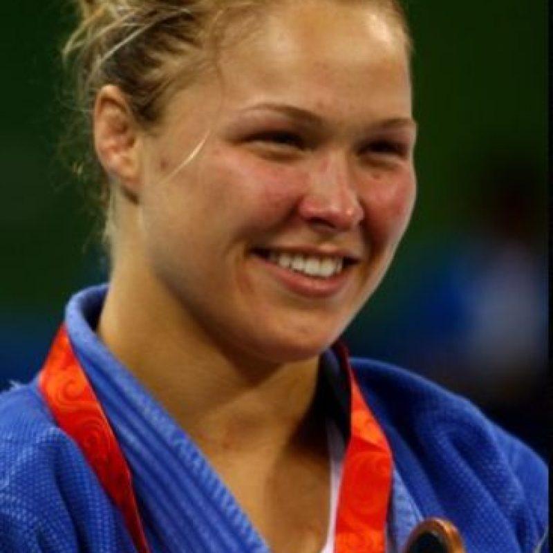 Y se convirtió en la primera mujer estadounidense que gana medalla en judo. Foto:Getty Images