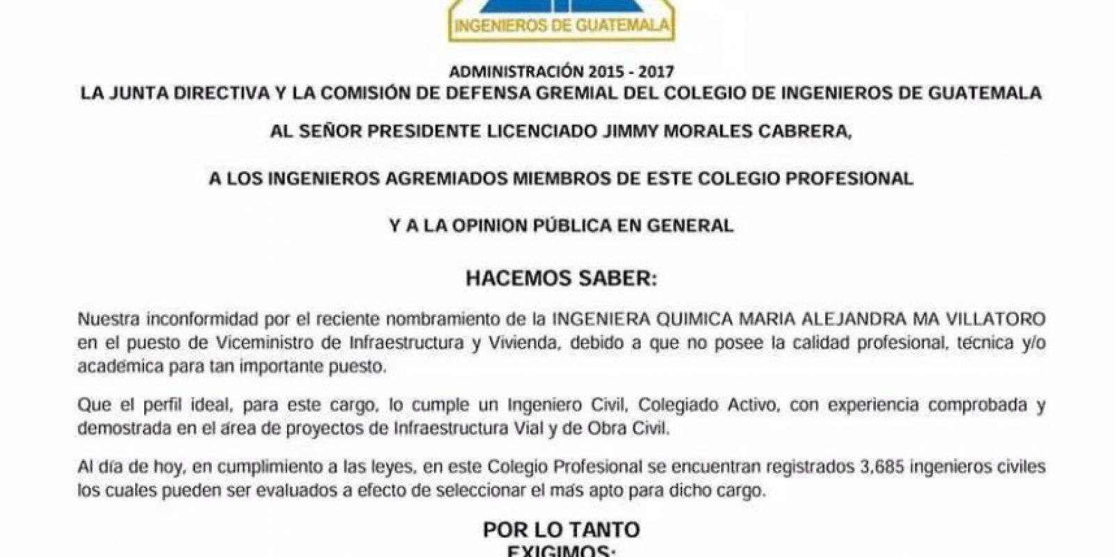 Foto:Colegio de Ingenieros