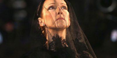 Las desgarradoras imágenes de Céline Dion en el funeral de su esposo