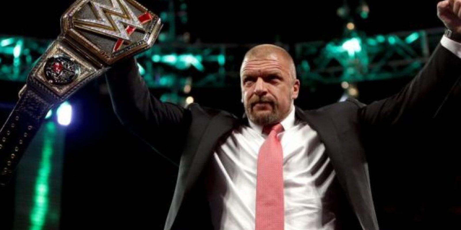 Triple H es el actual Campeón Mundial de Peso Pesado Foto:WWE