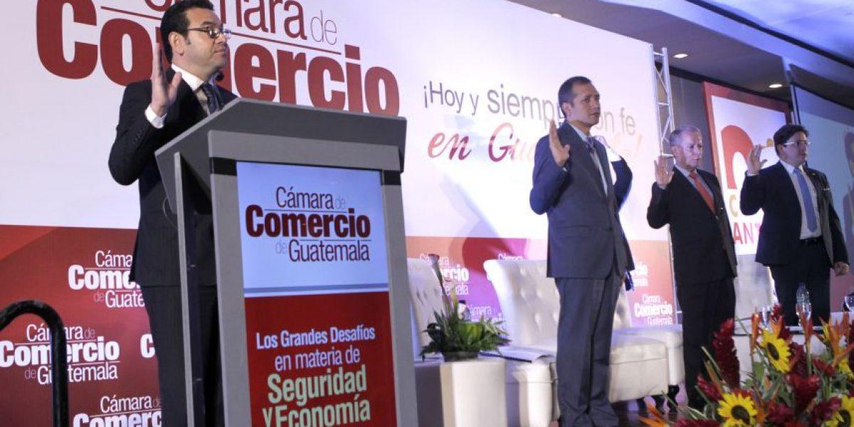 VIDEO. El día en que el presidente Jimmy Morales hizo jurar a los empresarios