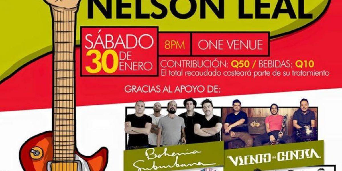 Bandas de rock realizarán concierto a beneficio de Nelson Leal