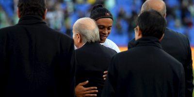Los grandes amigos de Ronaldino Foto:Getty Images