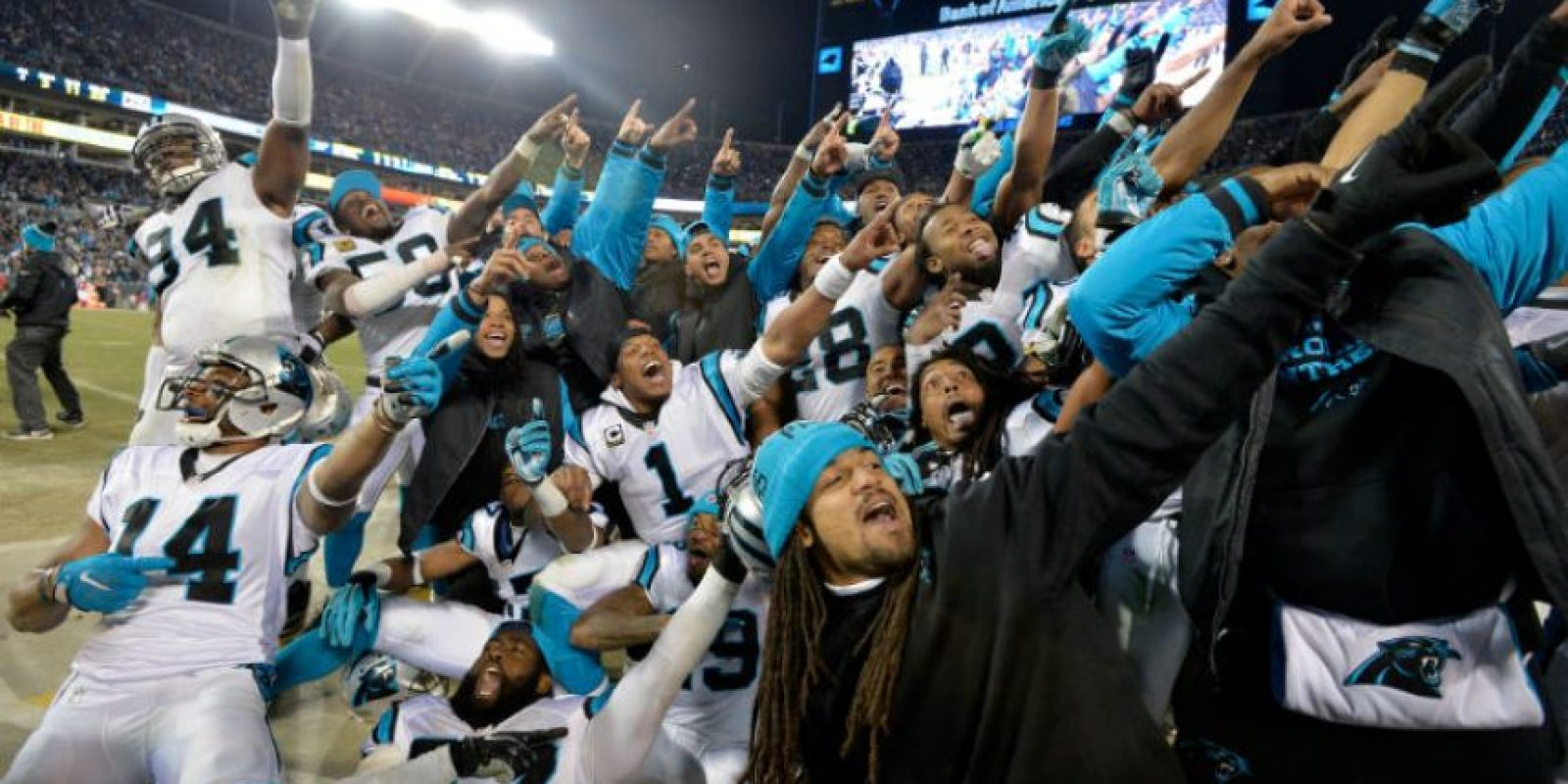 Así celebraron las Panteras su pase al Super Bowl Foto: Getty Images
