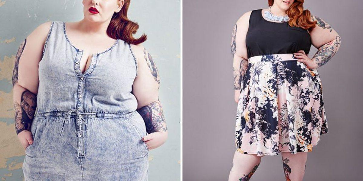 La criticaron por su peso y la modelo Pluz Size Tess Holiday les responde con foto sin ropa