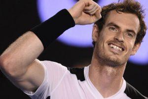 Murray celebra tras avanzar a las semifinales Foto:AFP