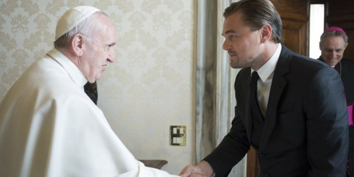 Ser ateo no le impidió a Leonardo DiCaprio visitar al Papa y tratar este tema