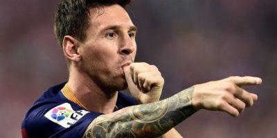 Messi así celebró su tanto ante el cuadro colchonero. Foto:AFP