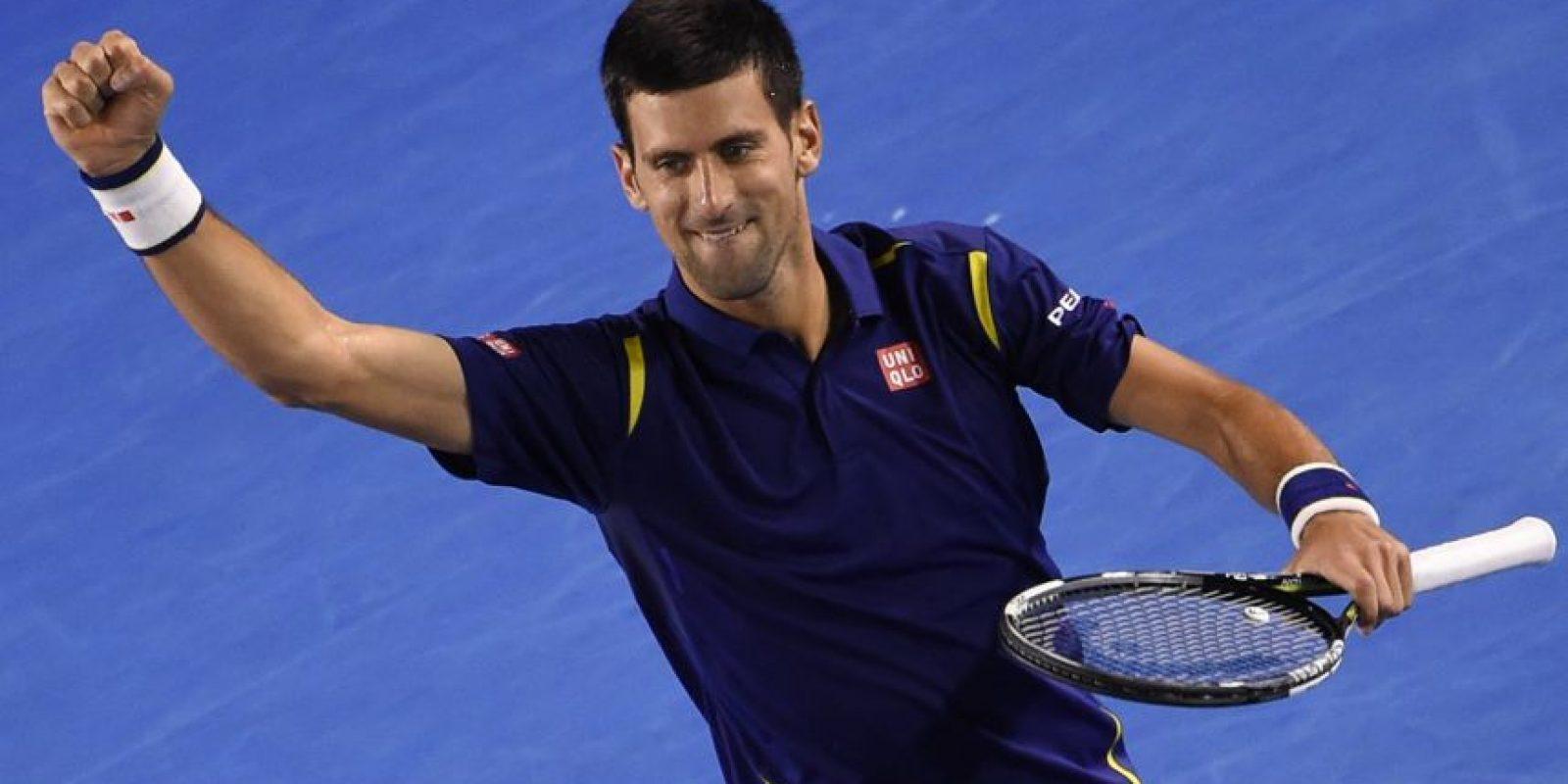 Nole confirmó por qué es el nùmero 1 de la ATP. Foto:AFP