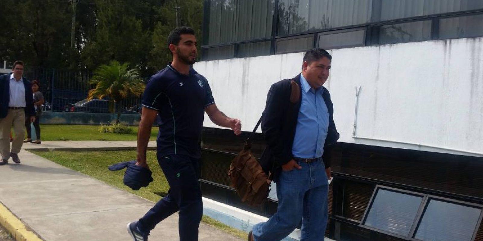 Víctor Ayala tras salir de la audiencia. Foto:Reina Damián