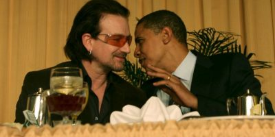 Bono, vocalista de banda U2. Foto: Getty Images