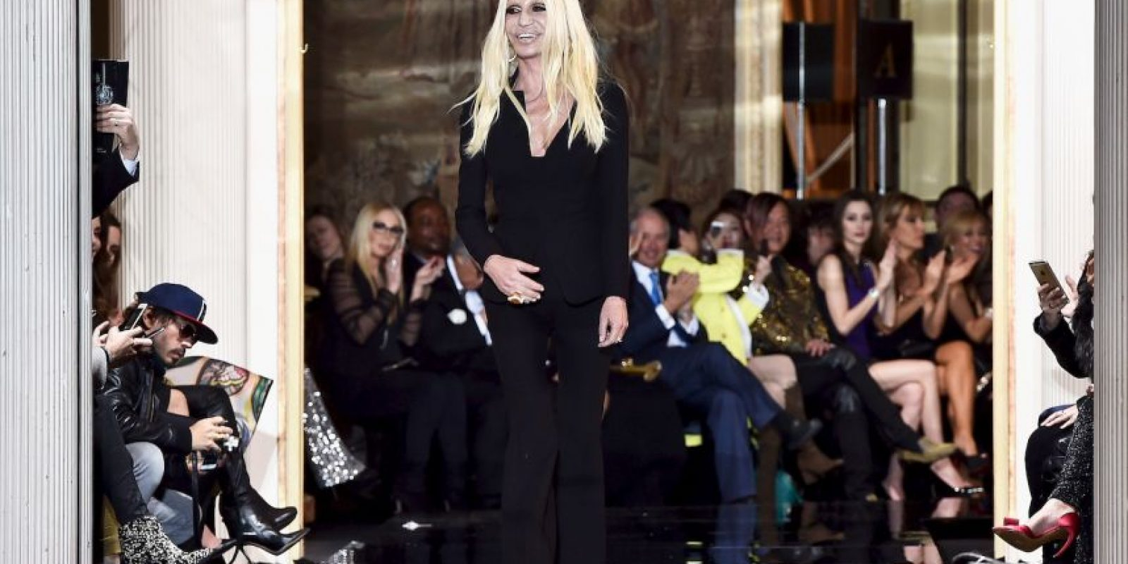 Donatella Versace después Foto: Getty Images