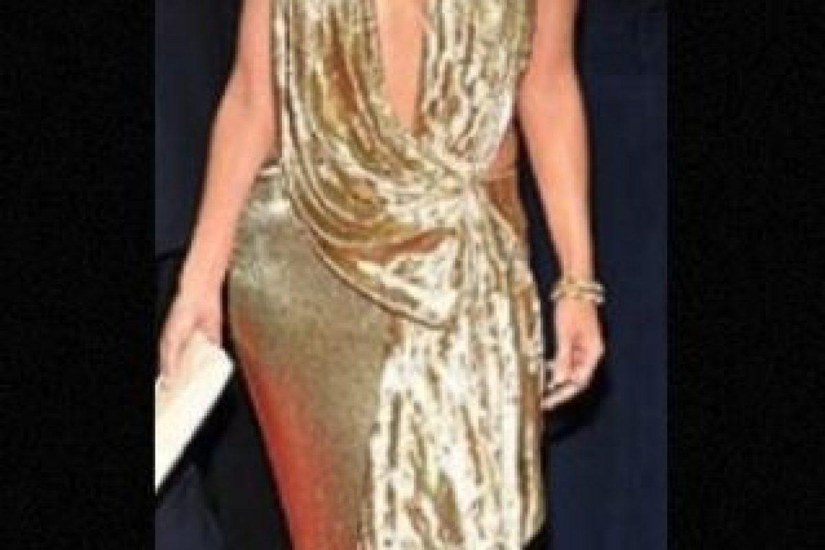 Vestido de Marchesa. Foto:Getty Images