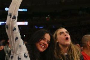 En febrero de 2014, Cara tuvo una relación con Michelle Rodríguez, se les vio muy cariñosas en un partido de baloncesto en el Madison Square Garden, en Nueva York Foto:Getty Images