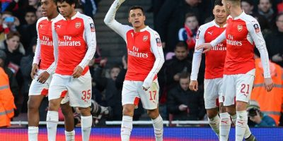 El chileno Alexis Sánchez marcó un tanto con el Arsenal.