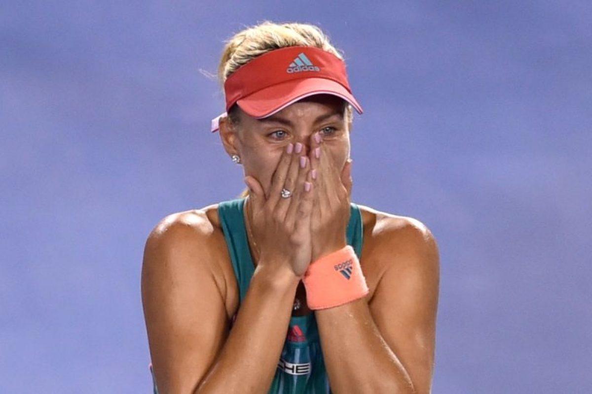 La alemana lloró de la alegría al coronarse. Foto:AFP