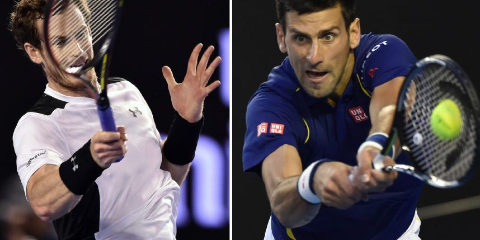 Andy Murray y Novak Djokovic se enfrentarán. Foto:AFP
