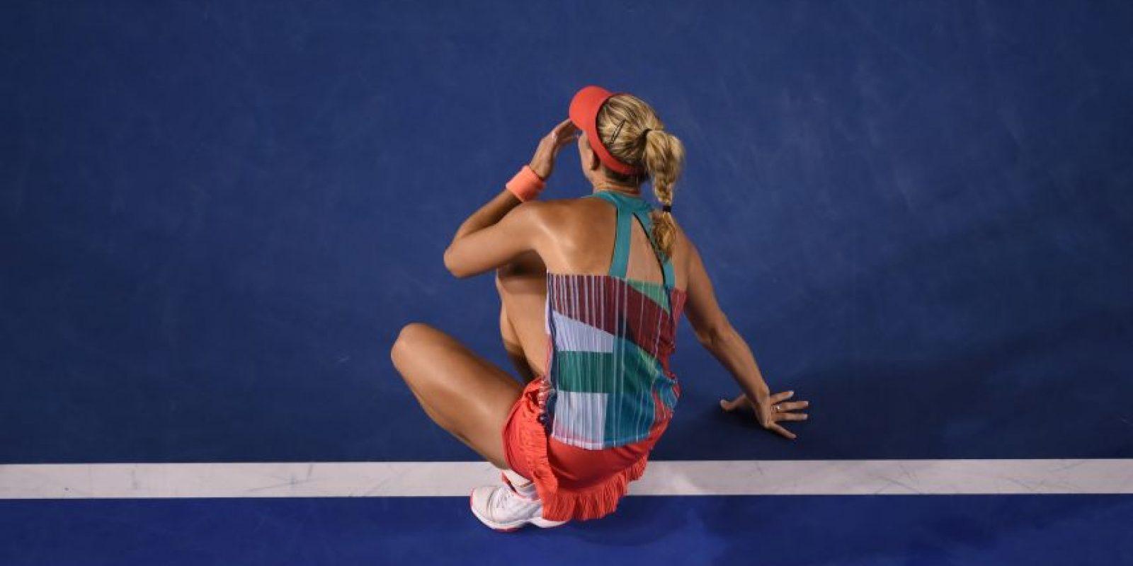 Kerber dio la sopresa y se impuso a Serena Williams. Foto:AFP