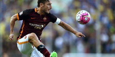 Una jugada del capitán de la AS Roma, Frencesco Totti. Foto:AFP