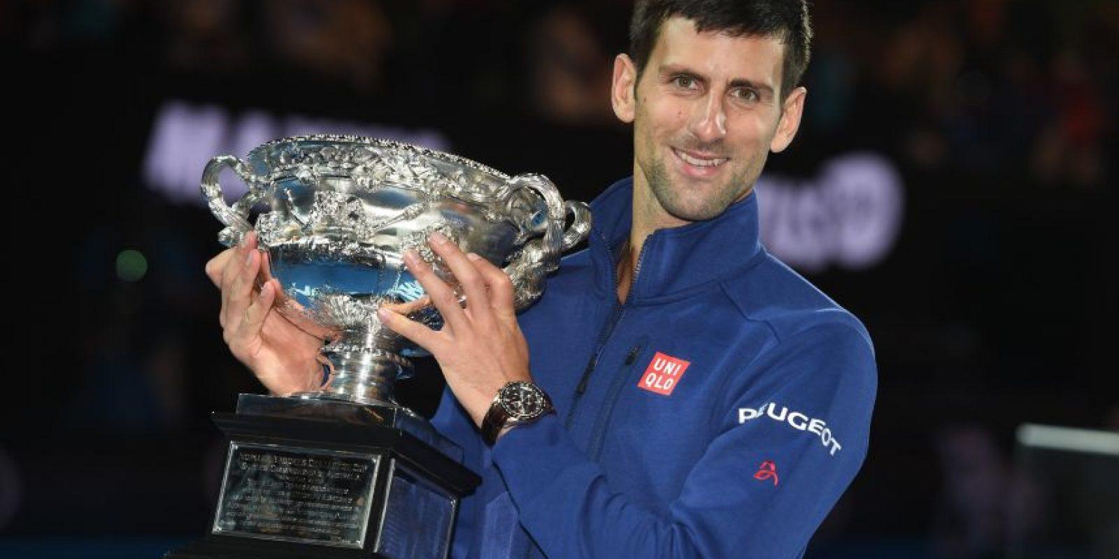 Tras coronarse campeón, Nole seguirá siendo en el tope de la ATP. Foto:AFP