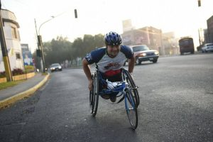 Francisco Leiva durante el recorrido de la Max Tott 2016. Foto:Oliver de Ros