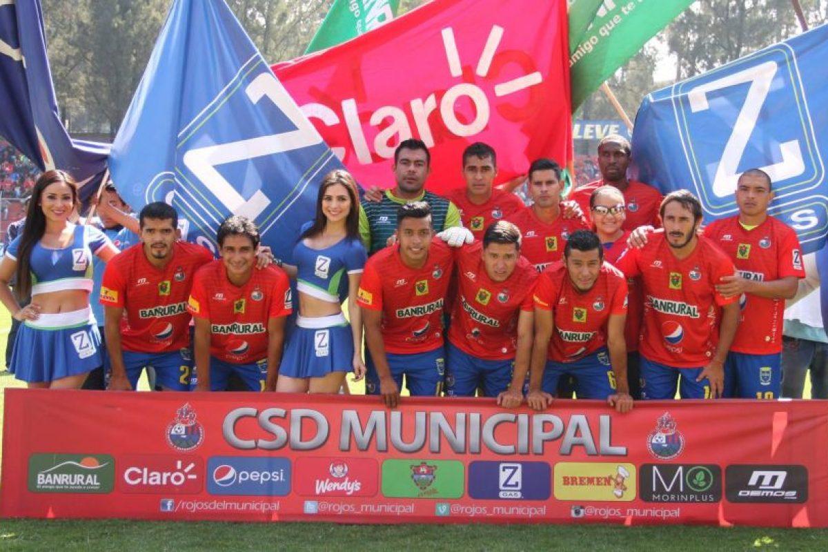 Municipal antes de iniciar el juego contra Malacatán. Foto:Publinews