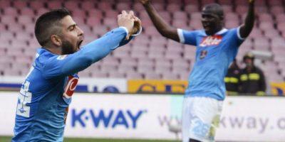 Jugadores del Napoli en plena celebración. Foto:AP
