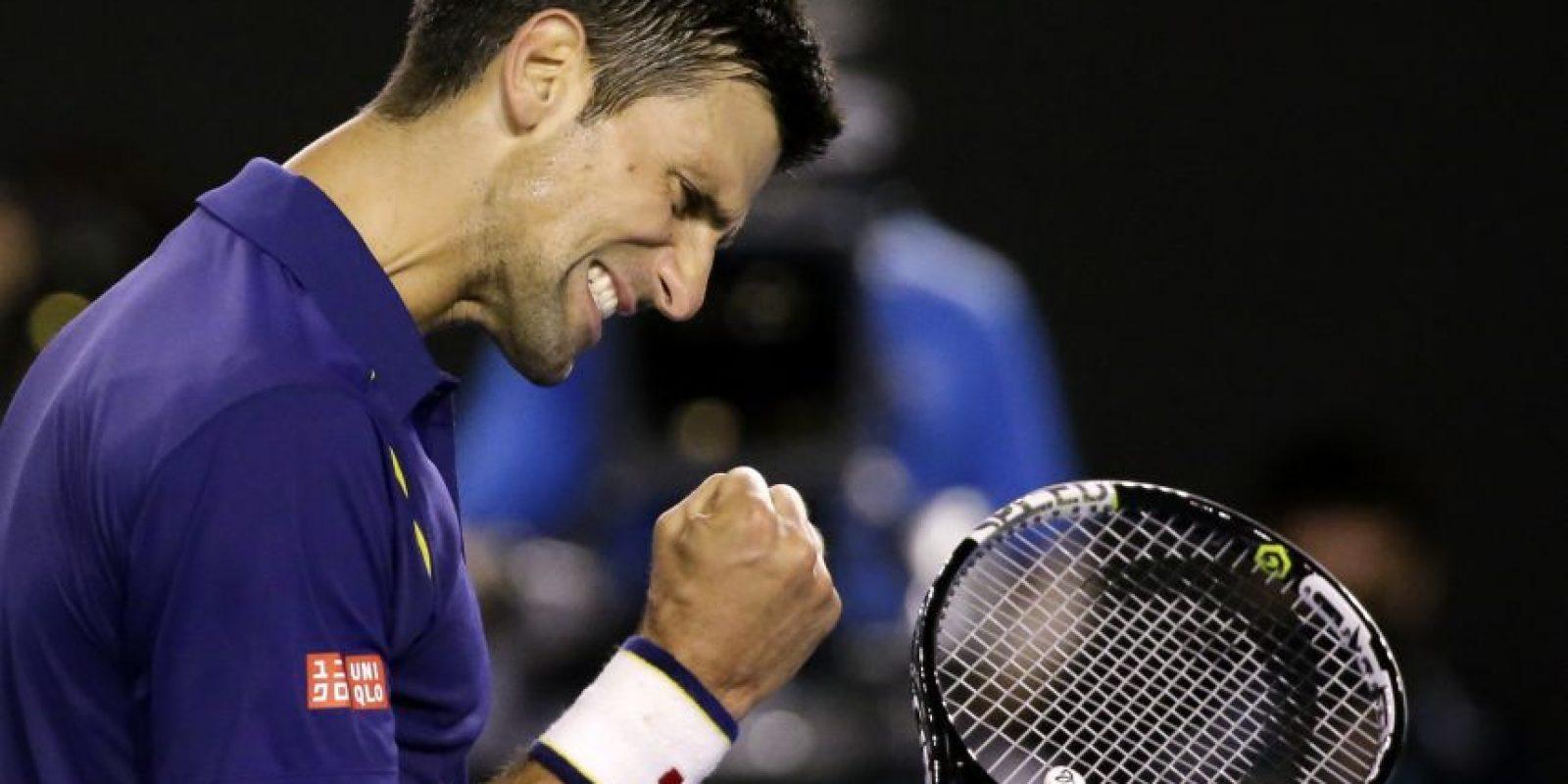 Novak Djokovic durante la final ante Andy Murray. Foto:AP