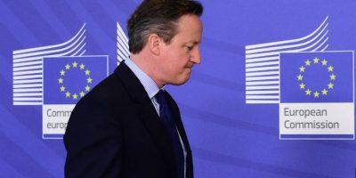 David Cameron, primer ministro de Gran Bretaña, durante una conferencia de prensa. Foto:AFP