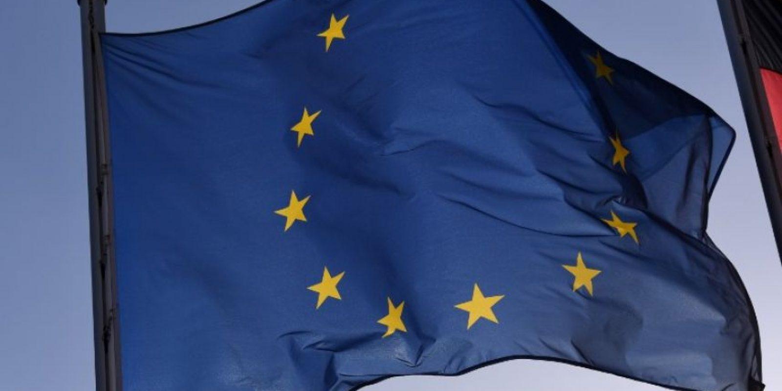 Bandera de la UE en una sede en Europa. Foto:AFP